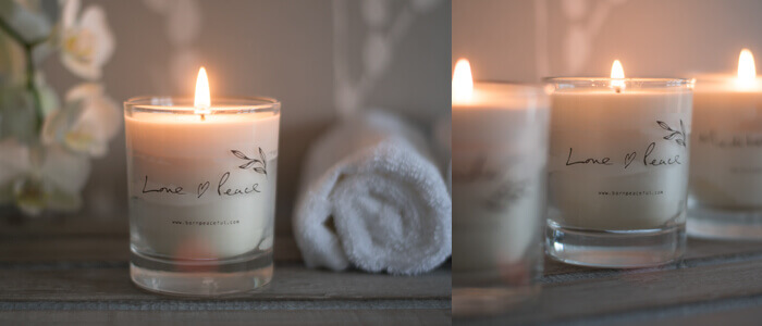 hand poured love & peace candle