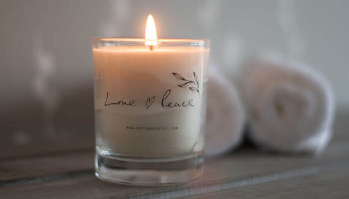 hand poured love & peace candle #2