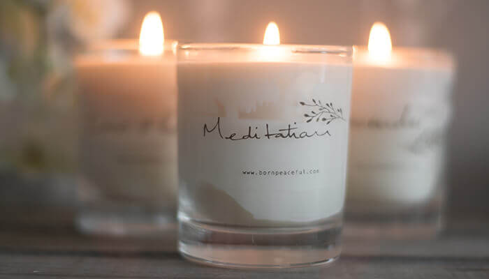 hand poured meditation candle #5