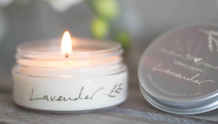 travel candle lavender #5