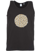 flower of life yoga vest | black