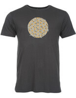 bamboo jersey yoga t-shirt | flower of life | charcoal